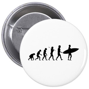 Surfer Evolution Button Badge
