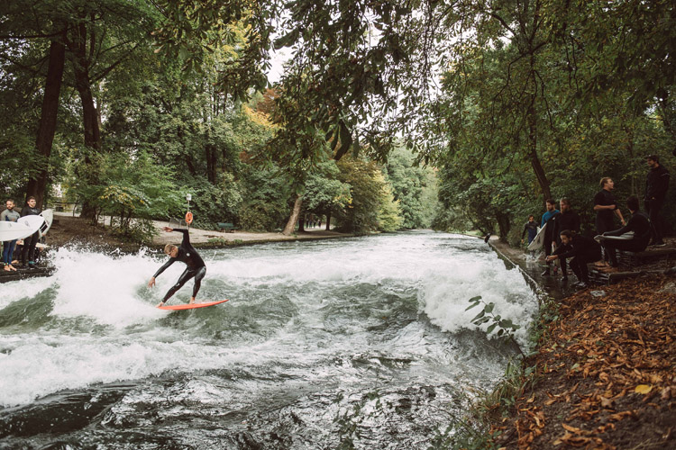 Mick Fanning: he loved the Eisbach River wave | Photo: Wilson/Red Bull