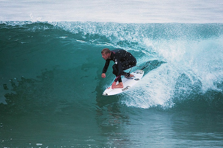 Mick Fanning: getting speed in advanced feet position