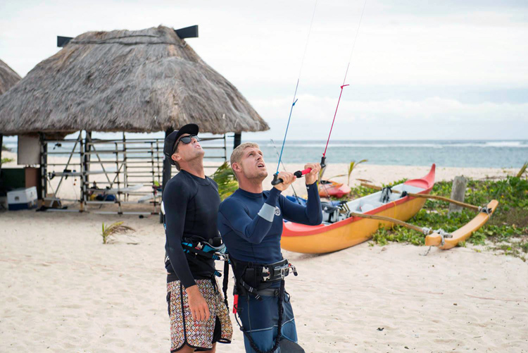 Mick Fanning: learning the kite basics with Ben Wilson