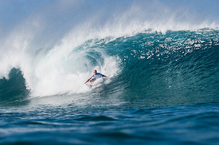 Mick Fanning: putting the pressure on Gabriel Medina | Photo: ASP/Cestari