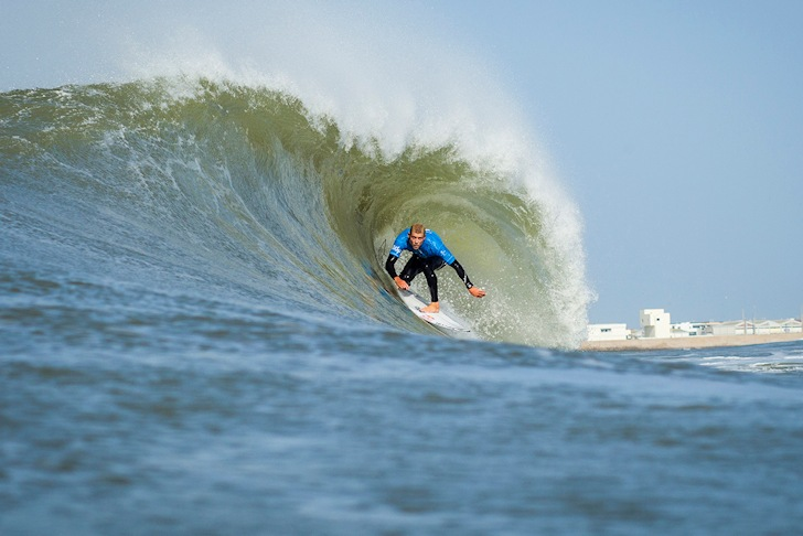 Mick Fanning: pitted in Supertubos   Photo: ASP/Poullenot
