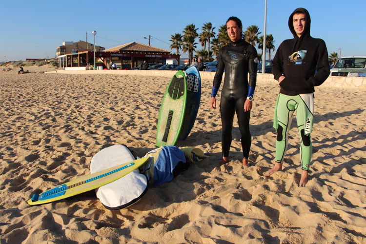 David Marques and Luis Carmelo: they are keeping skimboarding alive in Faro, Portugal | Photo: SurferToday