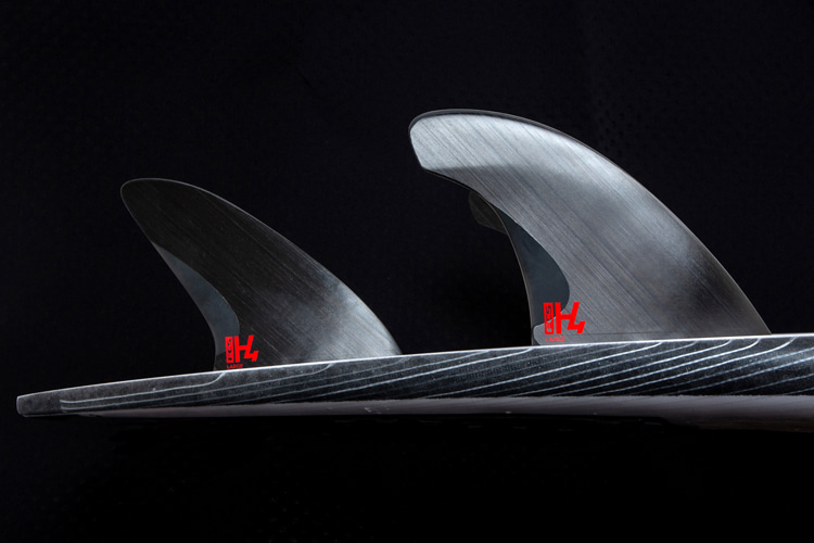 FCS H4: the new fin set shaped with Swiss precision injection molding and fused unidirectional carbon | Photo: FCS