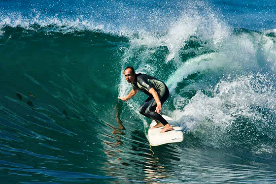 Fernando Aguerre: he is surfing
