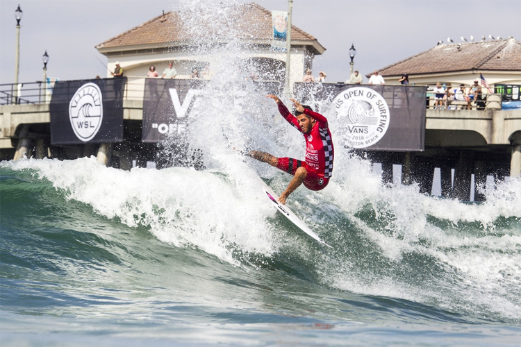 Filipe Toledo: the Brazilian surfer won his second US Open of Surfing | Photo: Morris/WSL
