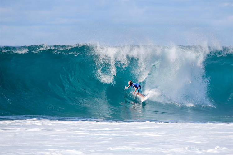 Finn McGill: one of the youngest to ever win at Pipe | Photo: Heff/WSL