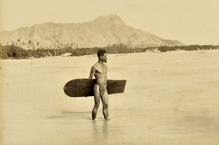 Hawaii, 1890: the first surf dude is deciding whether he is going left or right
