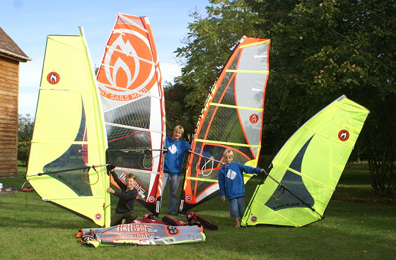 Flechet family: experienced windsurfers