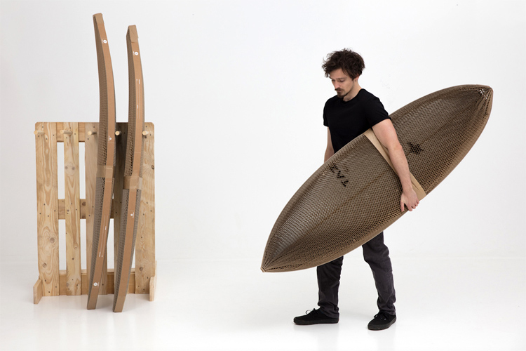Flexi-Hex changes the way surfboards are packaged