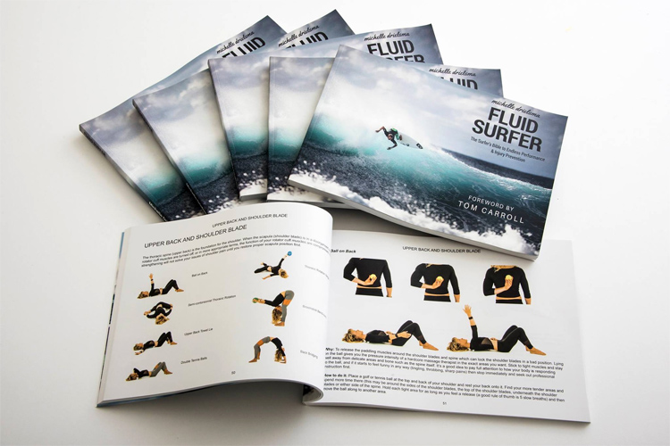 Fluid Surfer: a 179-page book that will help your become a stronger and better surfer