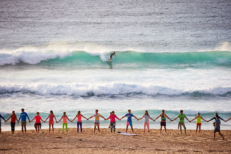 OneWave's Fluro day: beating mental health issues through surfing, saltwater therapy, and shiny colors