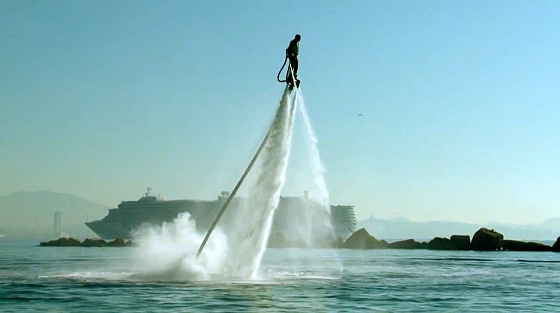 Flyboard by Zapata: he will tell you when the big sets are coming