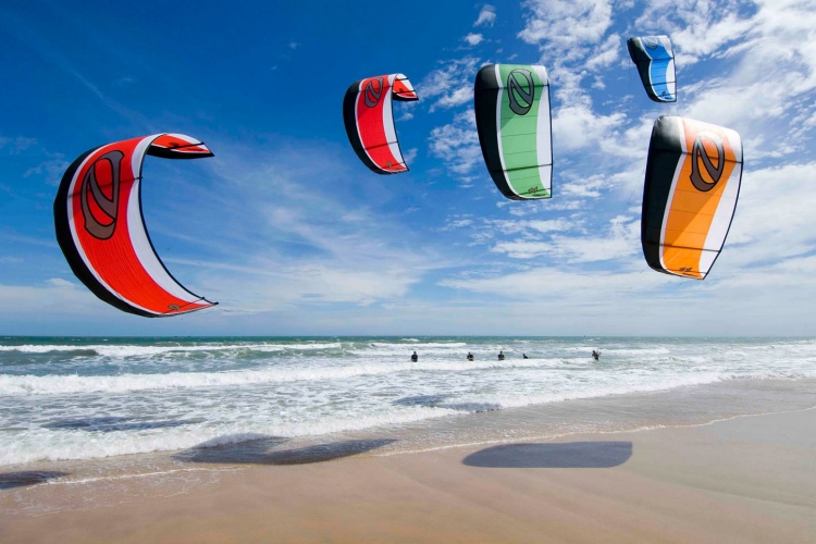 Kiteboarding kite: flying with the invisible power of the wind