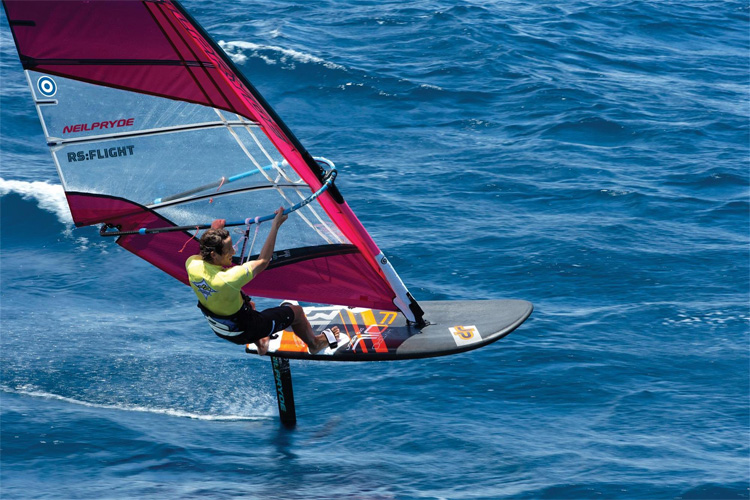 Dorian van Rijsselberghe on his windfoil - a potential Olympic class.