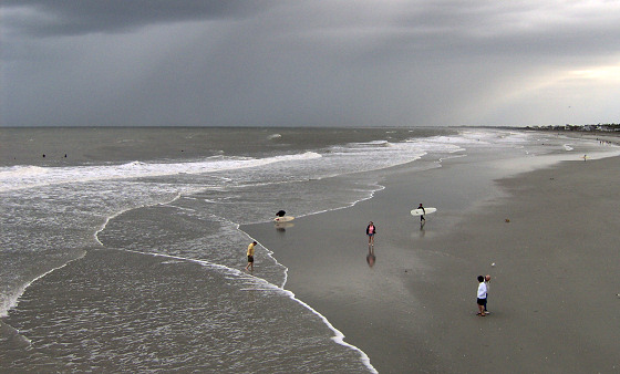 Folly Beach: the sand is disappearing