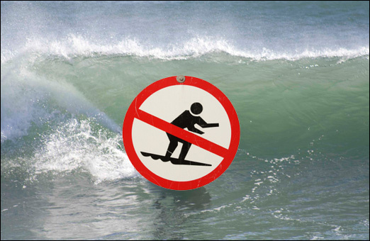Canadian military forbids surfing in Cow Bay point break