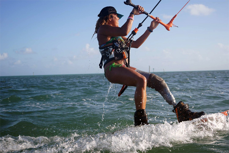 Frances Osorio Rivera: the one-legged kiteboarder girl