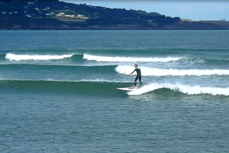 Francois Colussi: he is a local ferry wave rider at Dublin Bay
