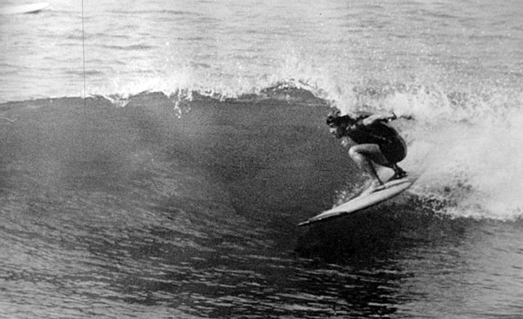 Frankie Freitas: getting barreled circa 1968 | Photo: Western Neighborhoods Project