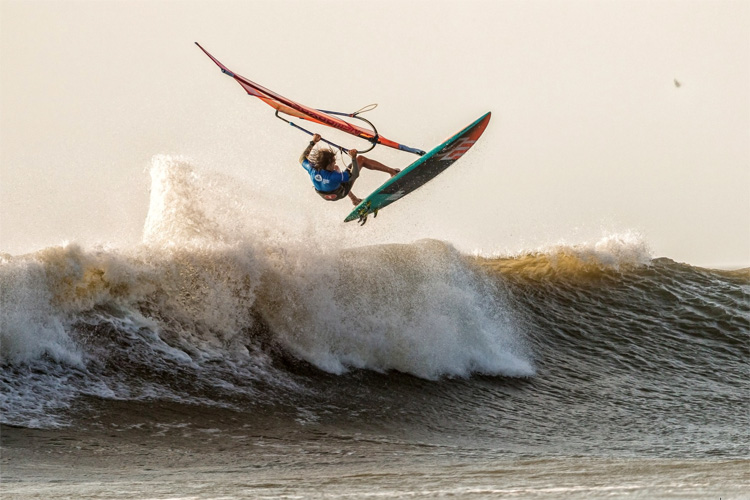 Frederico Morisio: he won his first windsurfing contest in Pacasmayo | Photo: Crowther/IWT