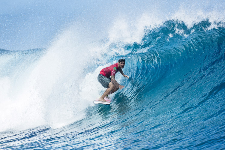 Gabriel Medina: en route to winning his second event in Teahupoo | Photo: Poullenot/WSL