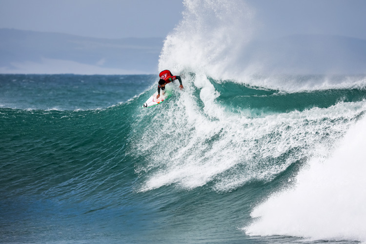 Gabriel Medina: the first goofy-footed surfer to win at Jeffreys Bay in 30 years | Photo: Tostee/WSL