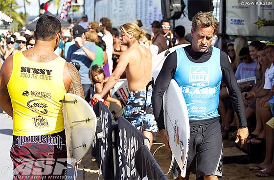 Sunny Garcia: he clashed one legend