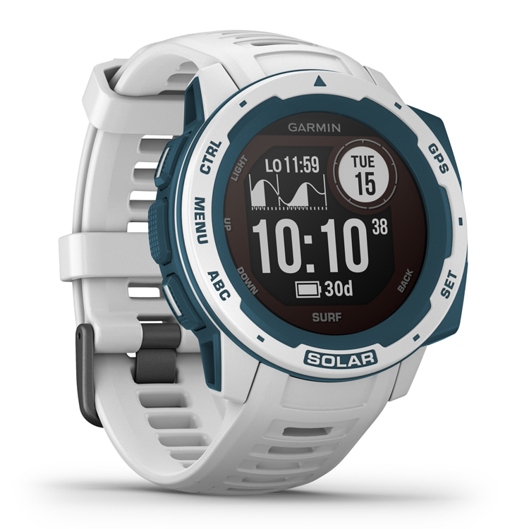 Garmin Instinct Solar Surf: a GPS-equipped, solar powered smartwatch that allows you to track your waves | Photo: Garmin