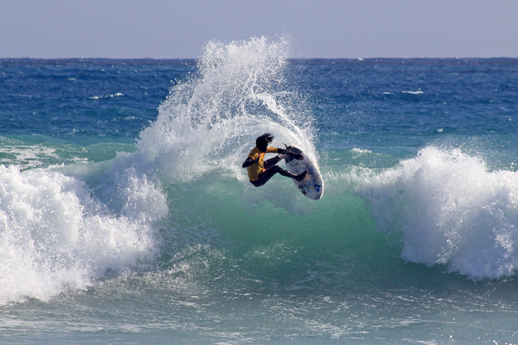 Garren Pryce: he stole the show at the famous Jamaican reef break | Photo: JSA