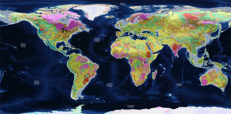 The Geological World Map