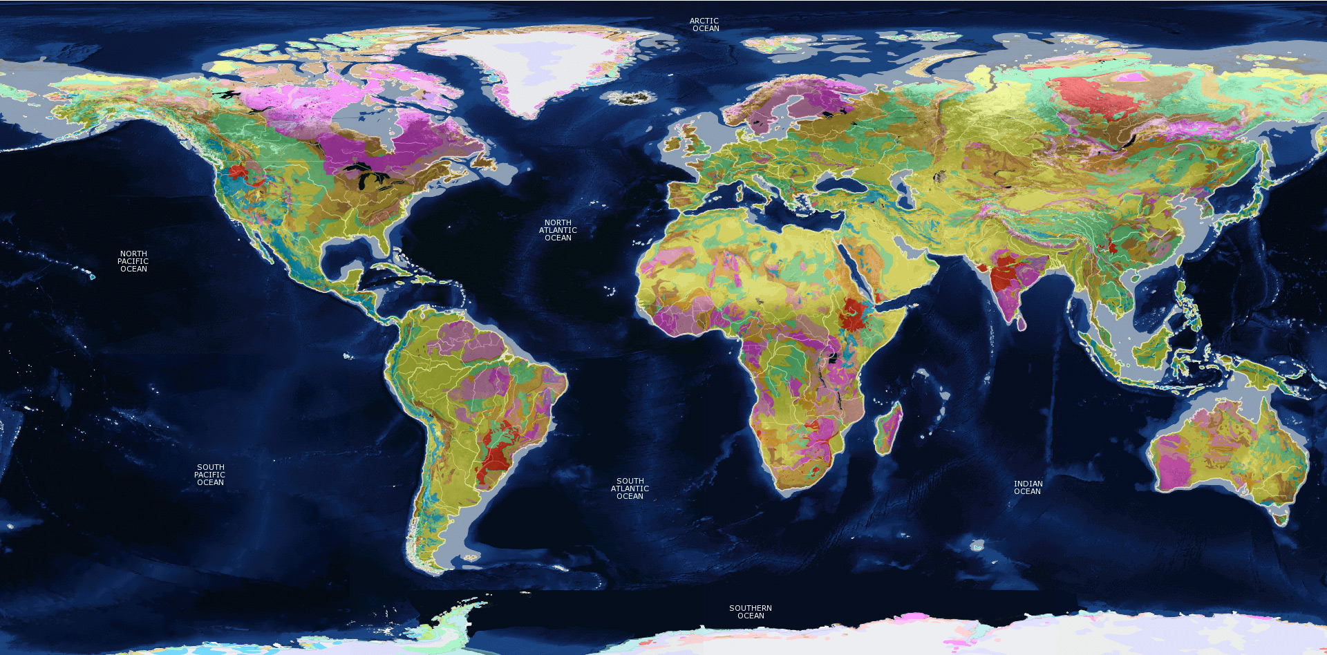 Image of: Maps Of The World