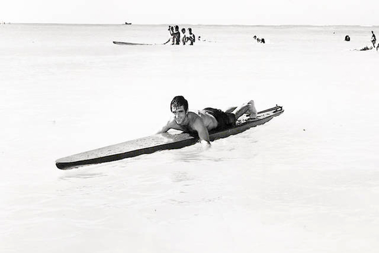 George Downing: he rode his first wave on a surfboard in 1939