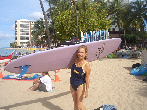 Gidget is back to surfing