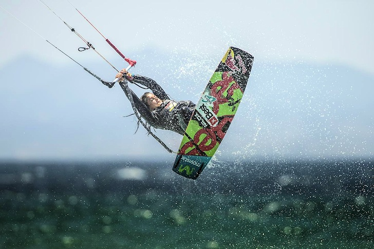 Liam Whaley and Gisela Pulido win the Tarifa Masters of Kiteboard 2014