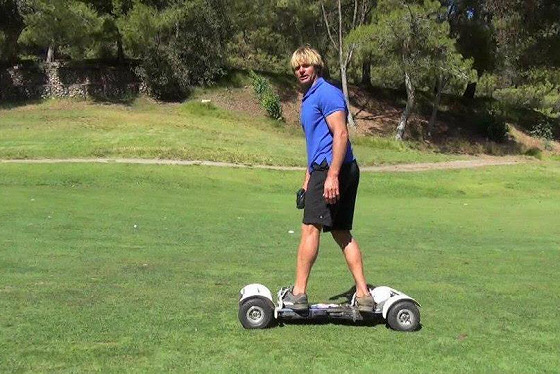 Laird Hamilton: the surfer and golfer impressed with the GolfBoard