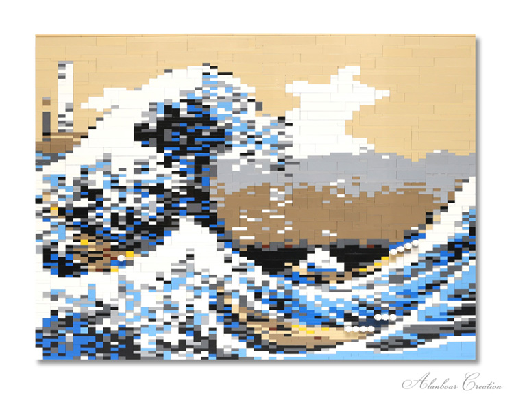 Under the Wave of Kanagawa: a Lego adaption by Alanboar HK | Photo: Alanboar HK