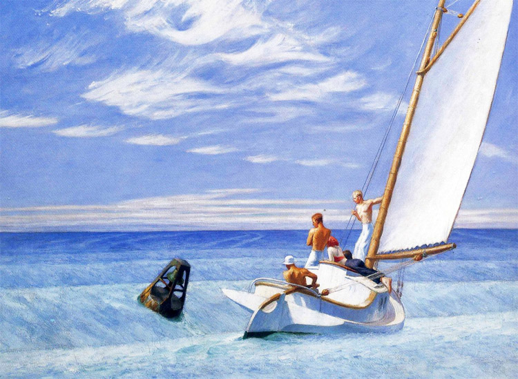 Ground swell: Edward Hopper enjoyed surfing and wipe-outs