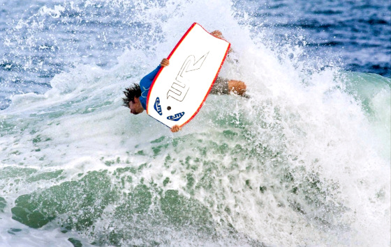 Guilherme Tamega: bodyboarding champion in action