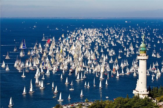 Gulf of Trieste: large enough for windsurfing