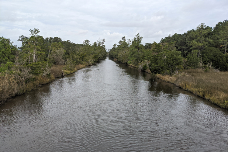 Harlowe Canal: dug by slave labor in 1815 | Photo: Vandenberg