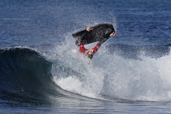 Harry Sarin: he wants to be the best in NSW bodyboarding