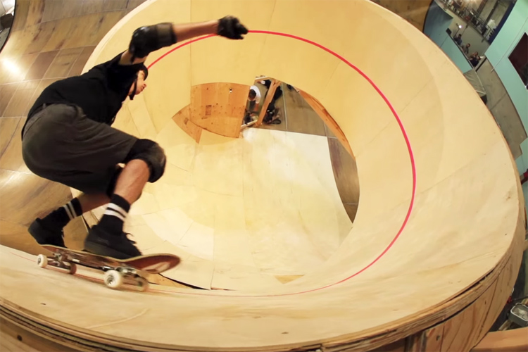 Tony Hawk And Kelly Slater Design A Skate To Surf Spiral Ramp