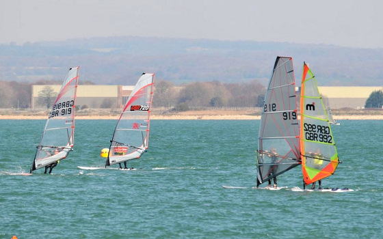 Round Hayling Island 2012: classic Mistral sail spotted
