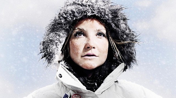Helen Skelton: kiteboarding in the snow