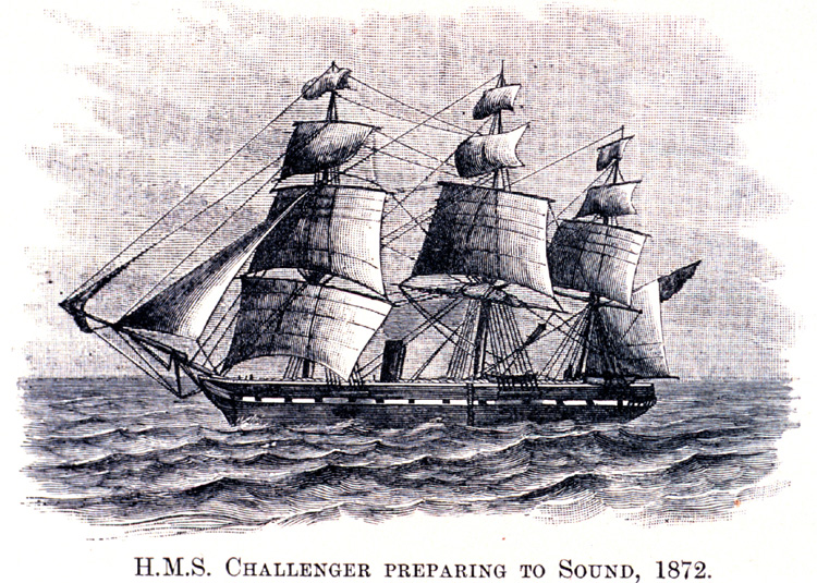 HMS Challenger: the 1872 British vessel gave name to the Challenger Deep | Illustration: NASA