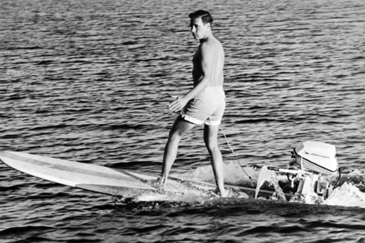 Motorized surfboards: the 1960 jet-powered board model by Hobie Alter