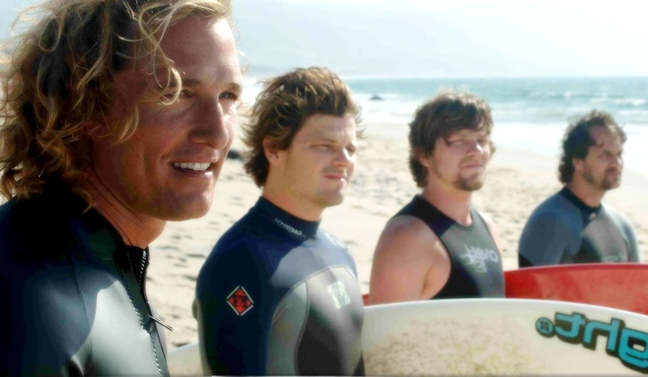 Hollywood surfing: Matthew McConaughey eyeing a perfect barrel