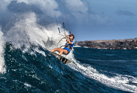 Hookipa Kite Surf Pro: grab the lines