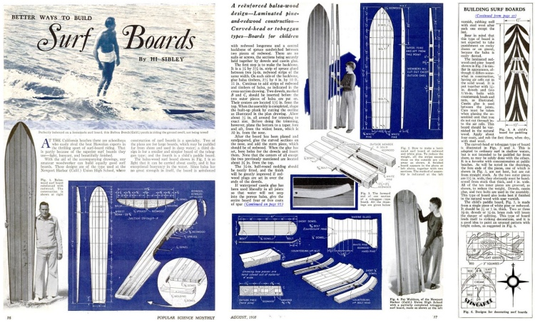 Better Ways to Build Surfboards: shaping back in 1935